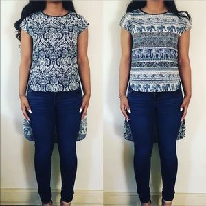 Reversible High Low Patterned Top